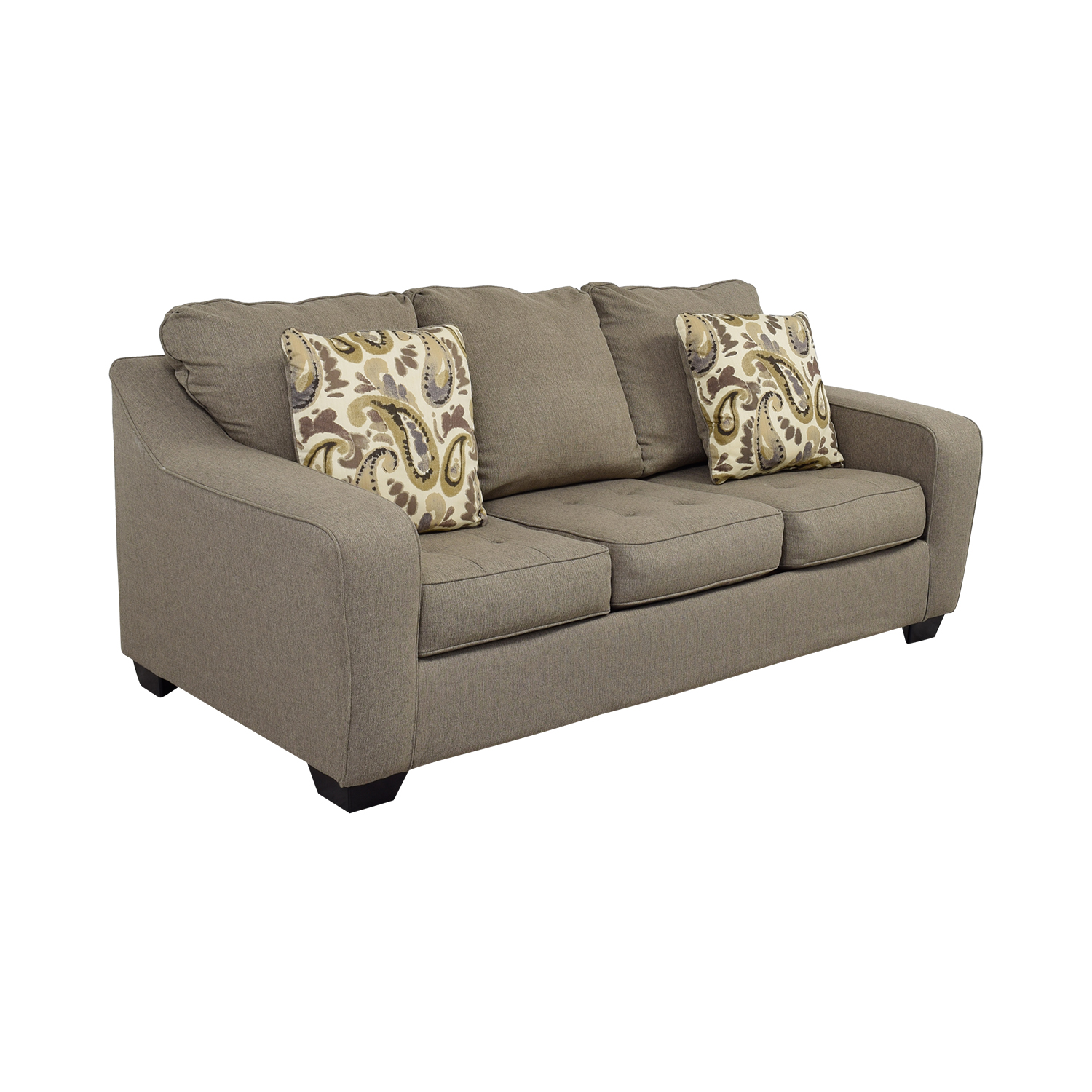 buy Ashley Furniture Grey Three-Cushion Couch Ashley Furniture