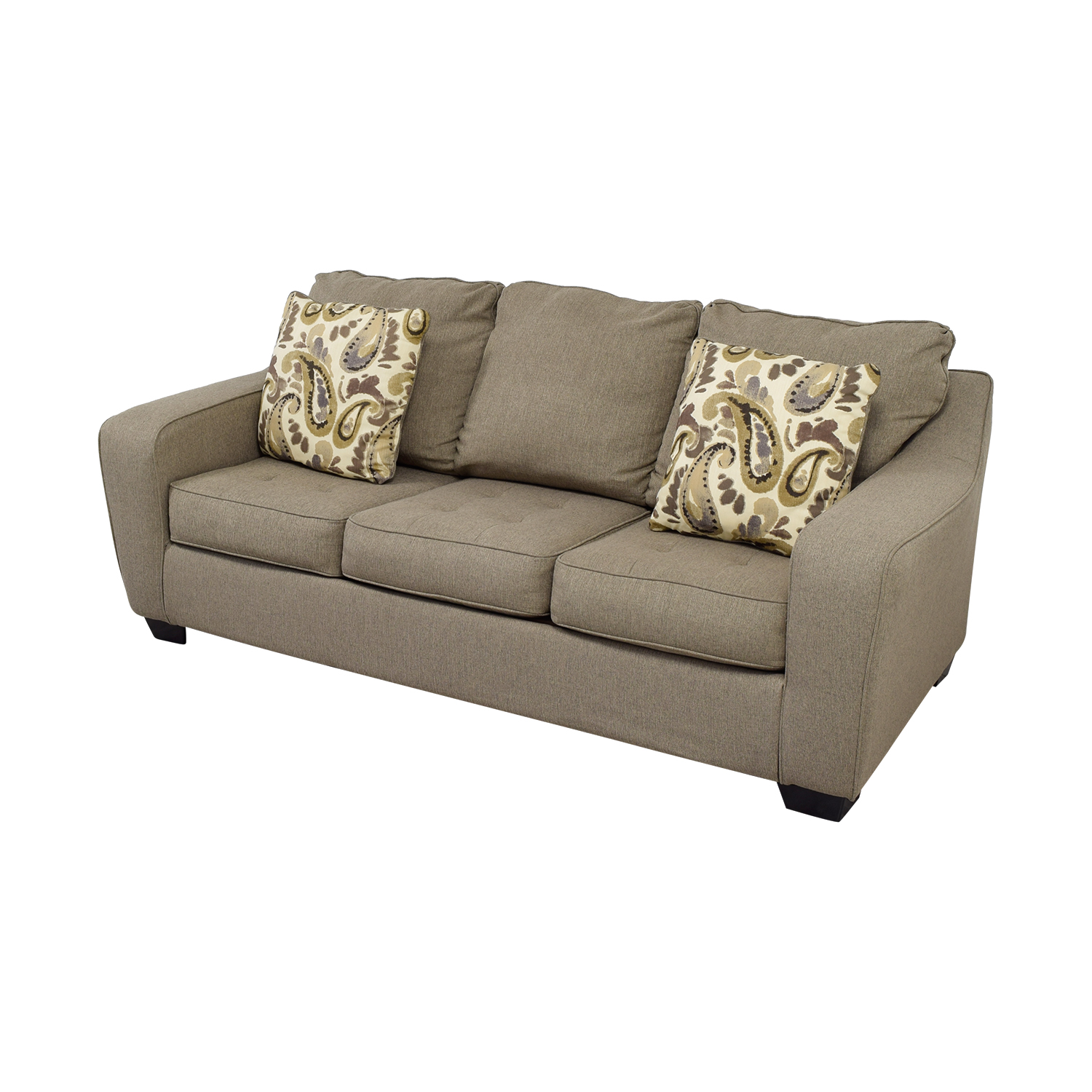 shop Ashley Furniture Ashley Furniture Grey Three-Cushion Couch online