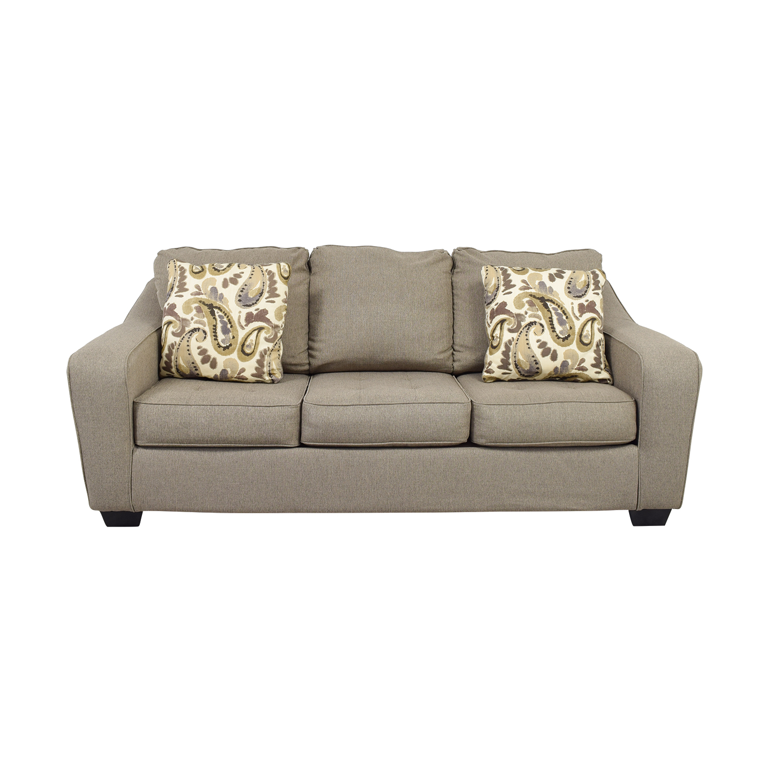 Ashley Furniture Ashley Furniture Grey Three-Cushion Couch Classic Sofas