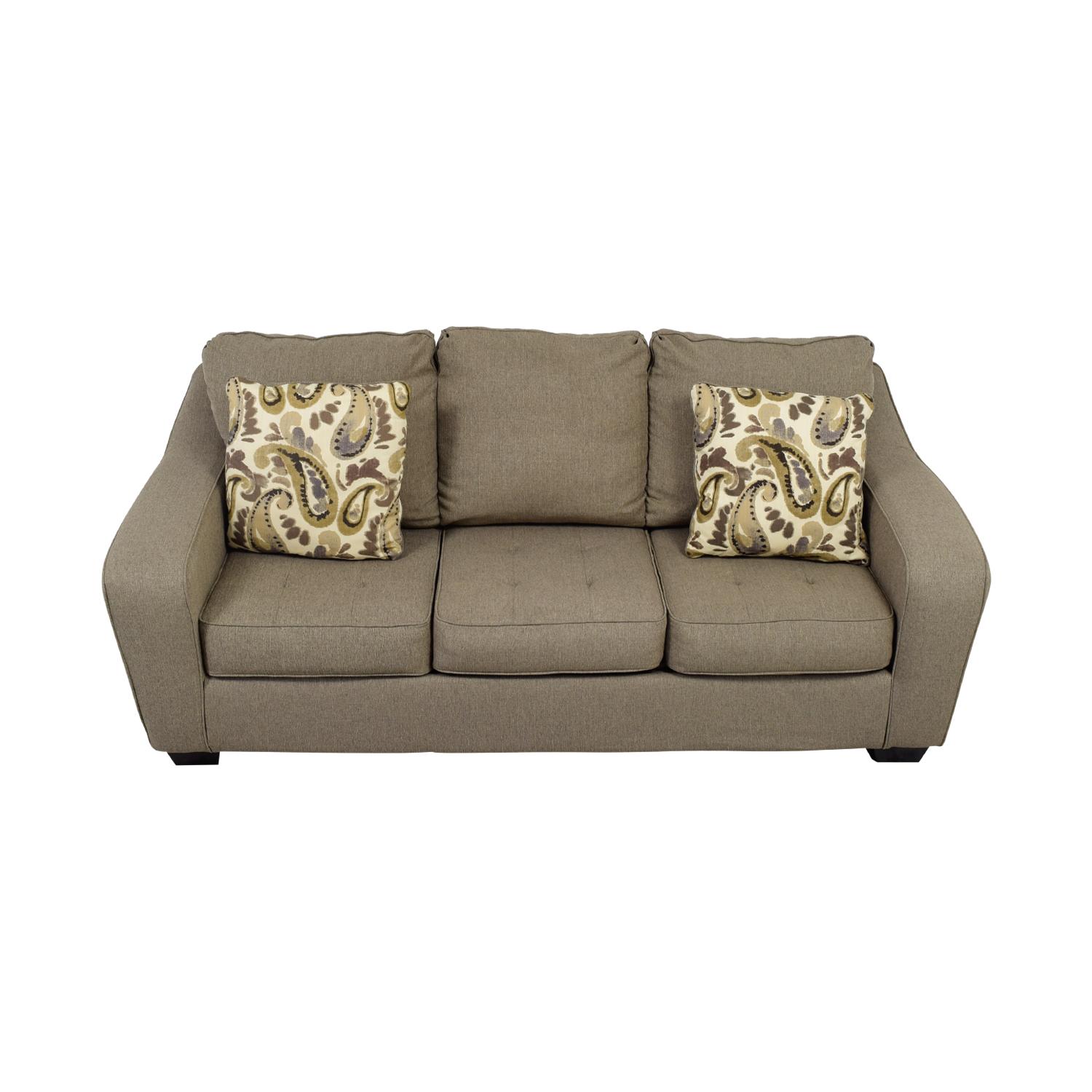 Ashley Furniture Ashley Furniture Grey Three-Cushion Couch Grey