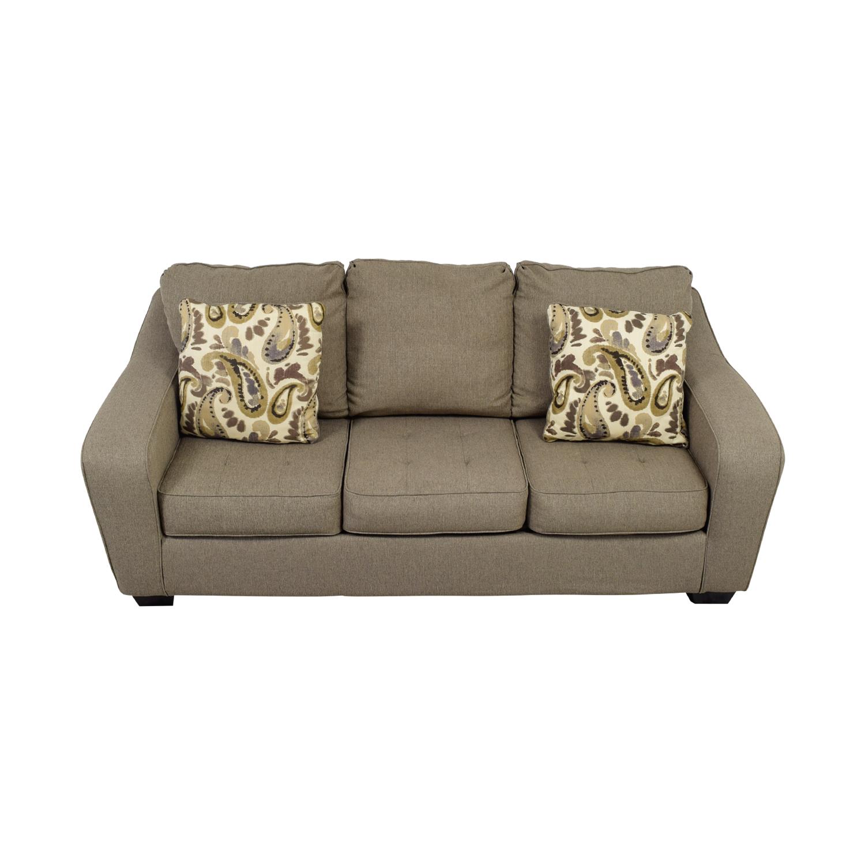 shop Ashley Furniture Ashley Furniture Grey Three-Cushion Couch online