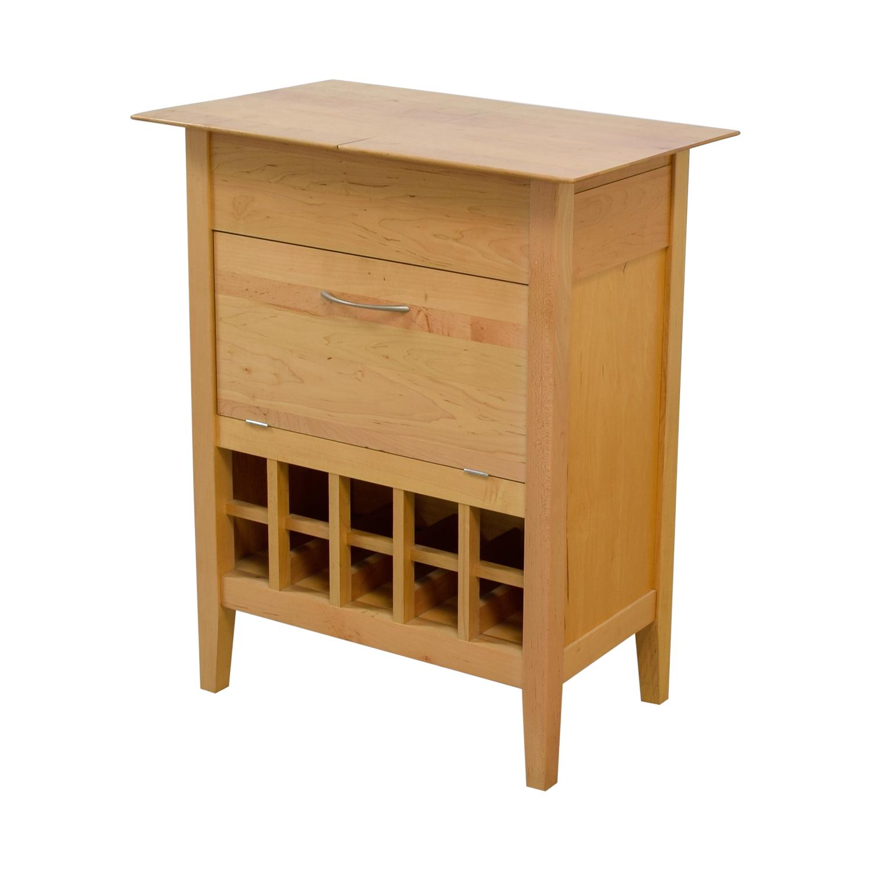 Crate & Barrel Crate & Barrel Natural Wine Bar Sideboard Cabinets & Sideboards
