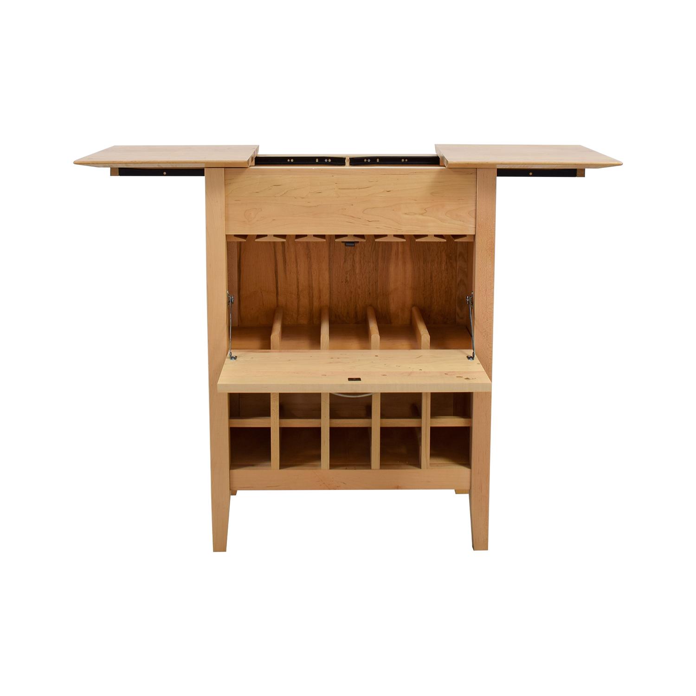 Crate & Barrel Natural Wine Bar Sideboard Crate & Barrel