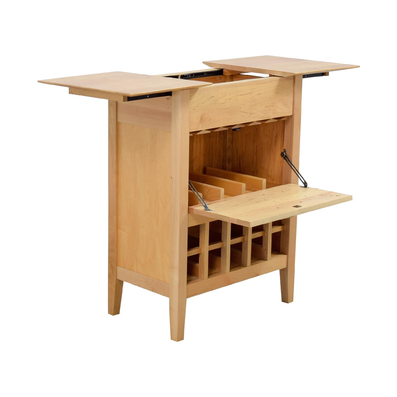 shop Crate & Barrel Natural Wine Bar Sideboard Crate & Barrel Storage