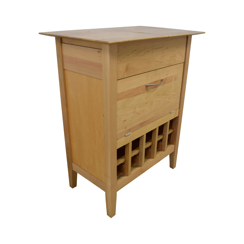 Crate & Barrel Crate & Barrel Natural Wine Bar Sideboard Beige