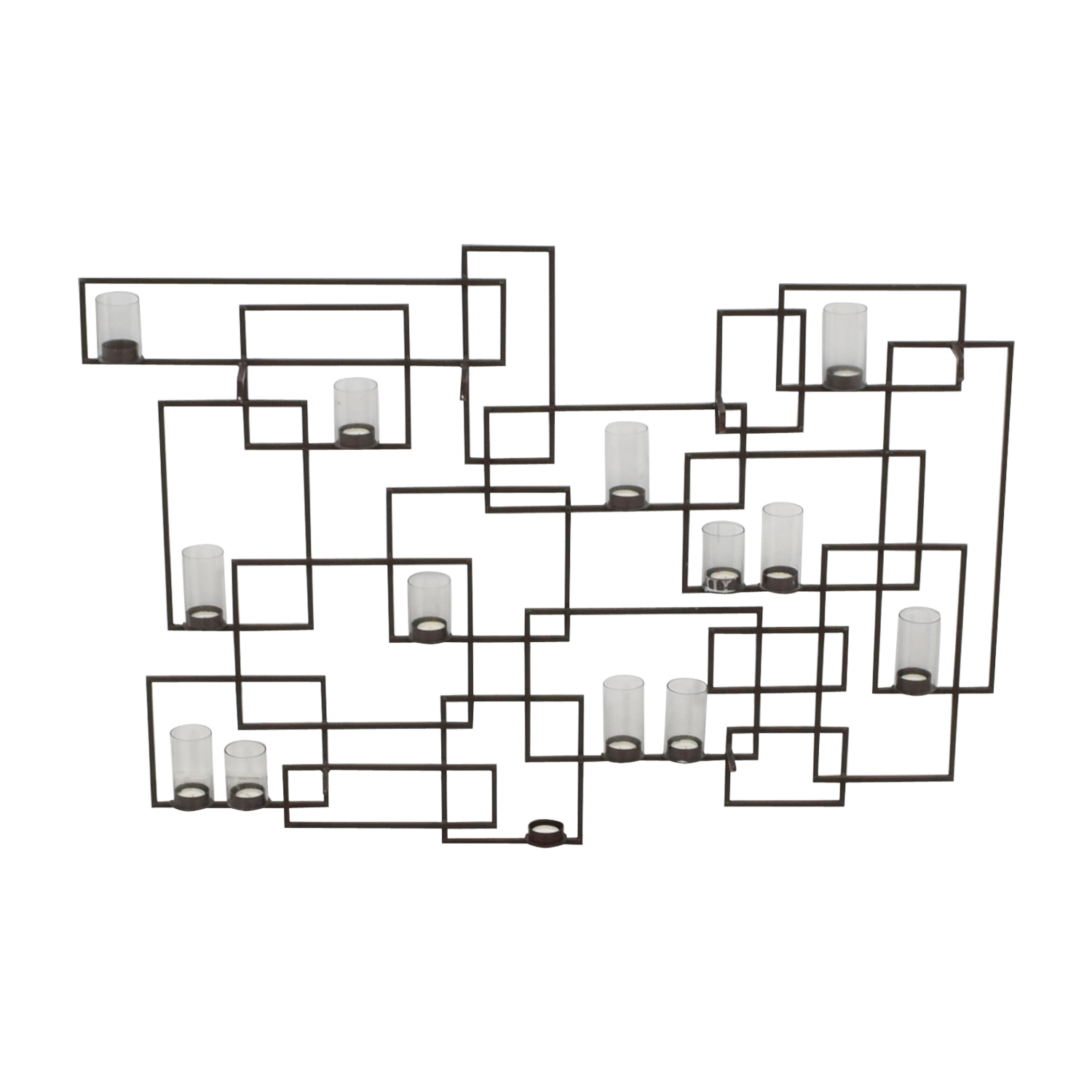 Crate & Barrel Circuit Metal Wall Candle Holder / Decor