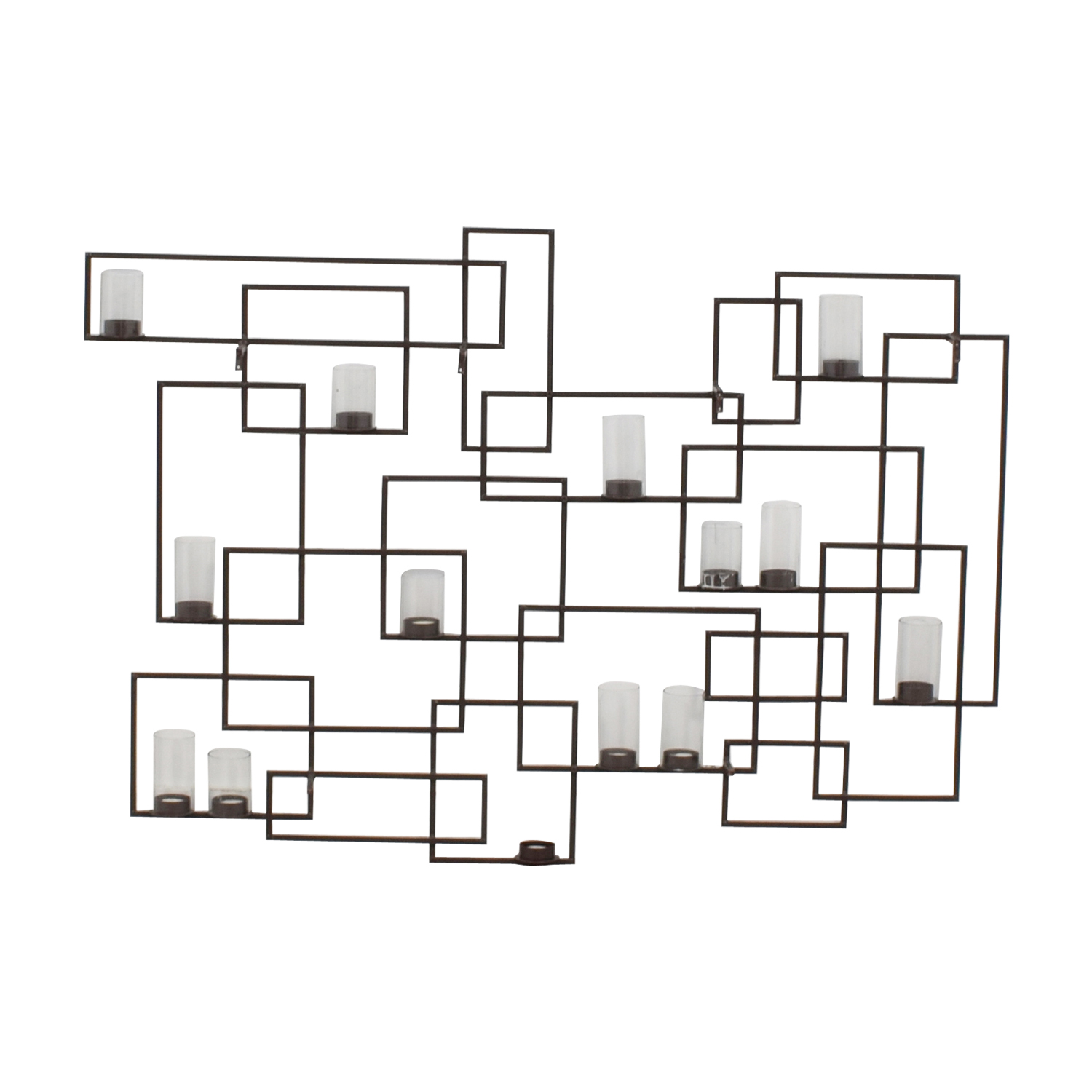 Crate & Barrel Circuit Metal Wall Candle Holder Crate & Barrel