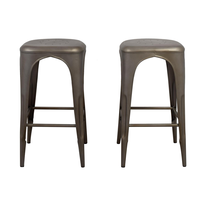 Groovy 90 Off Restoration Hardware Restoration Hardware Remy Backless Barstools Chairs Spiritservingveterans Wood Chair Design Ideas Spiritservingveteransorg