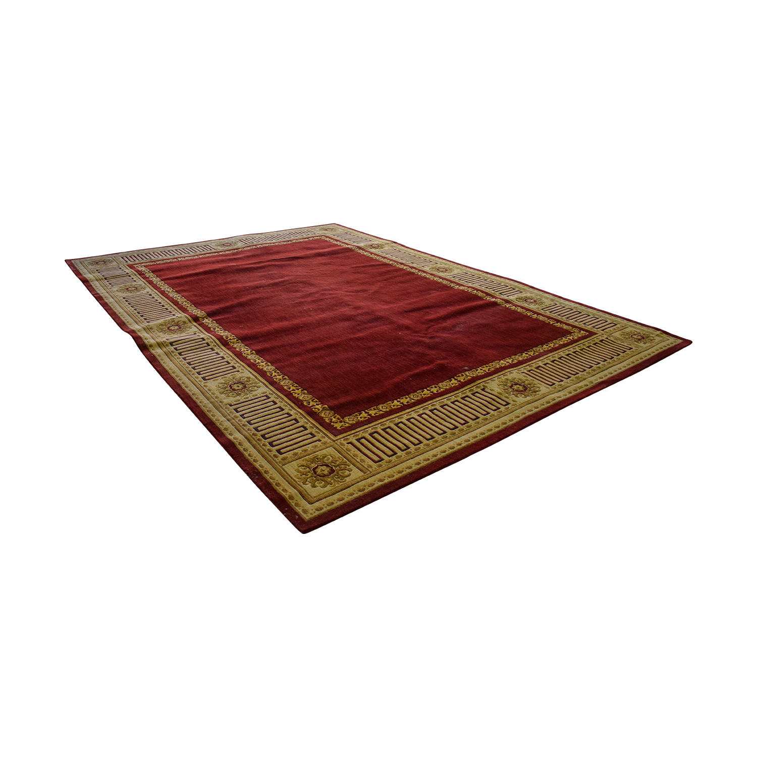 Bloomingdales Bloomingdales Red and Gold Wool Rug second hand