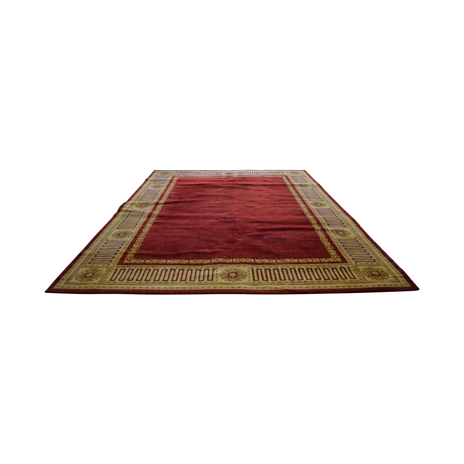Bloomingdales Bloomingdales Red and Gold Wool Rug
