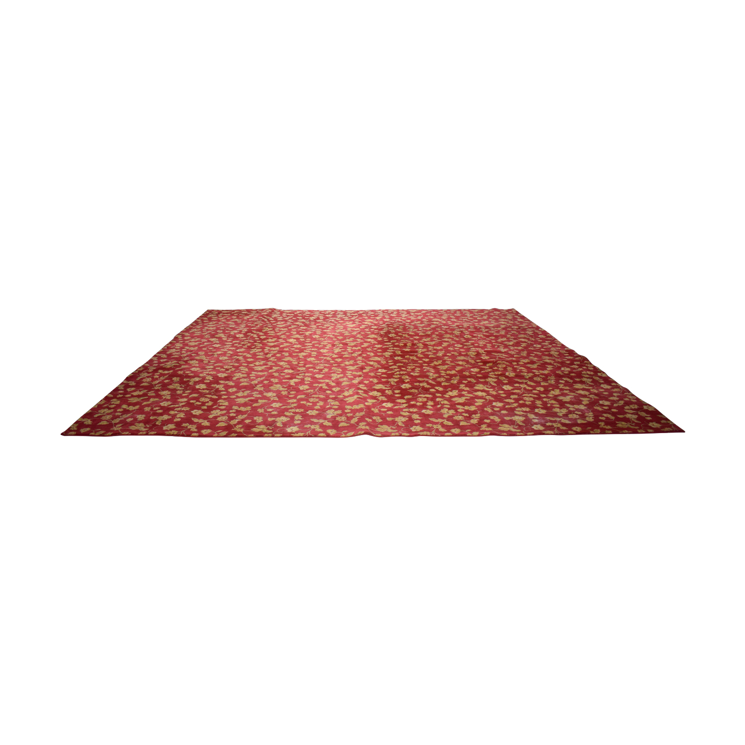 buy Einstein Moomjy Einstein Moomjy Custom Red and Gold Floral Rug online