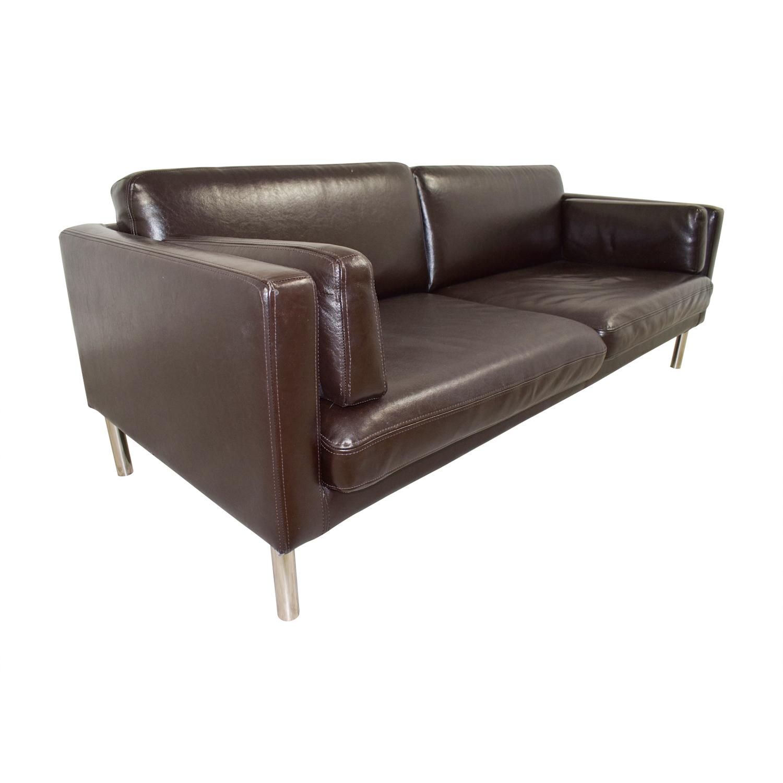 Ikea Sater Split Leather Sofa Sofas