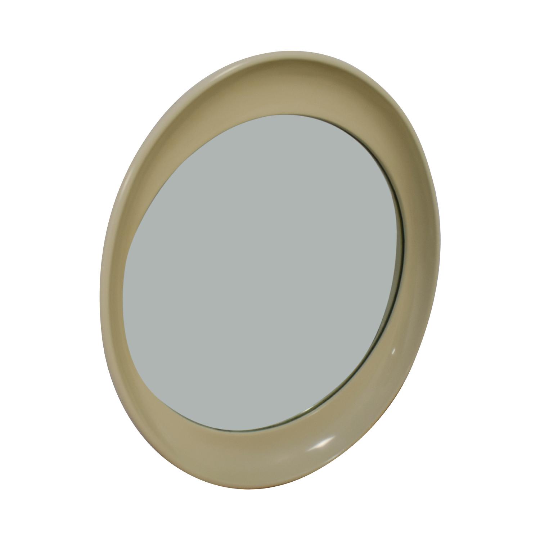 Vanilla Framed Round Mirror used