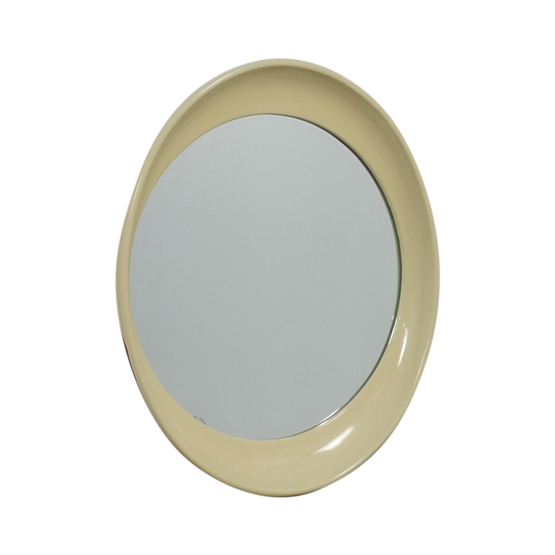 Vanilla Framed Round Mirror nyc