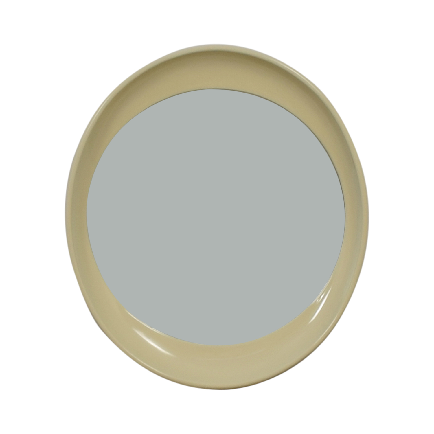 Vanilla Framed Round Mirror for sale