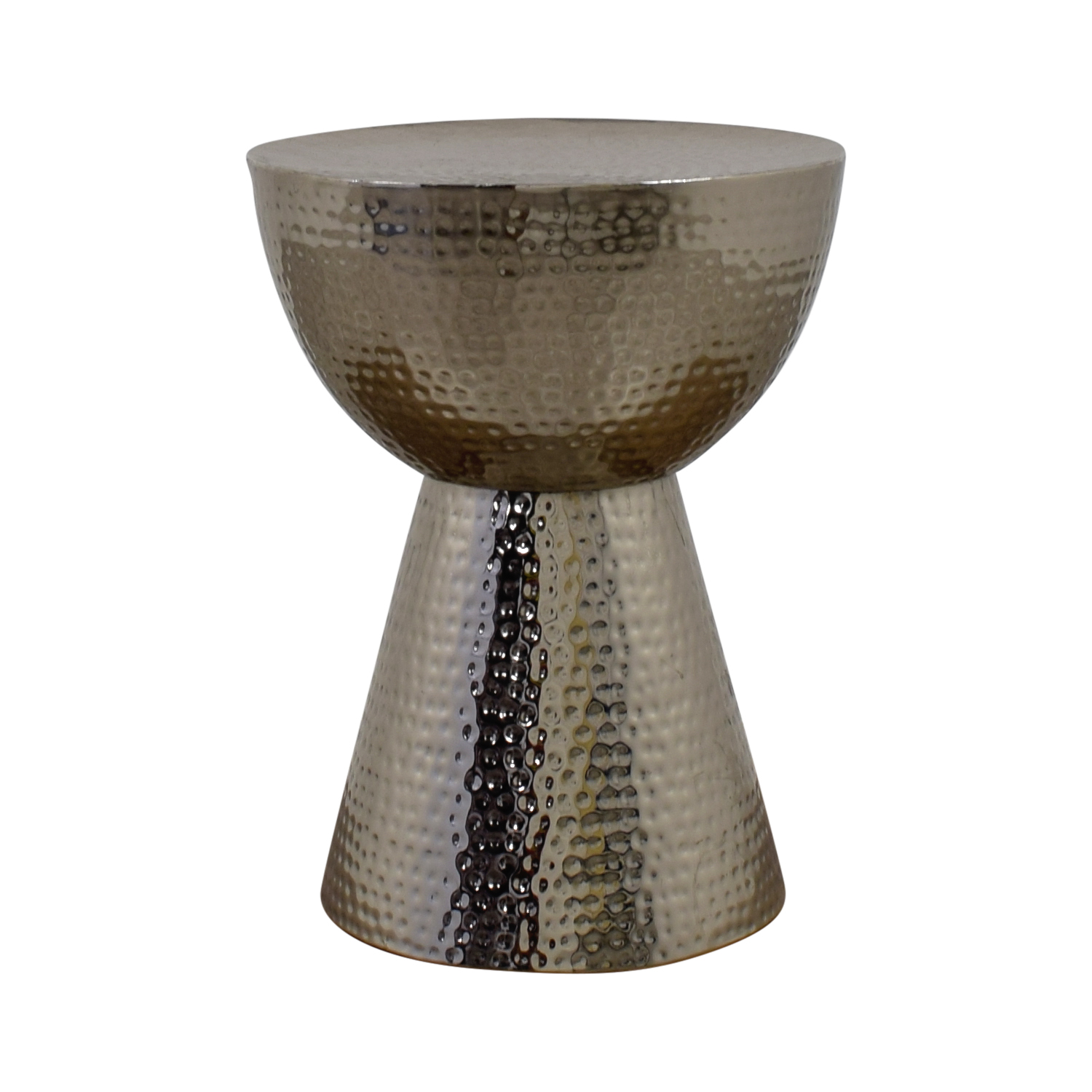 shop Silver Embossed Egg Cup Side Table  Accent Tables