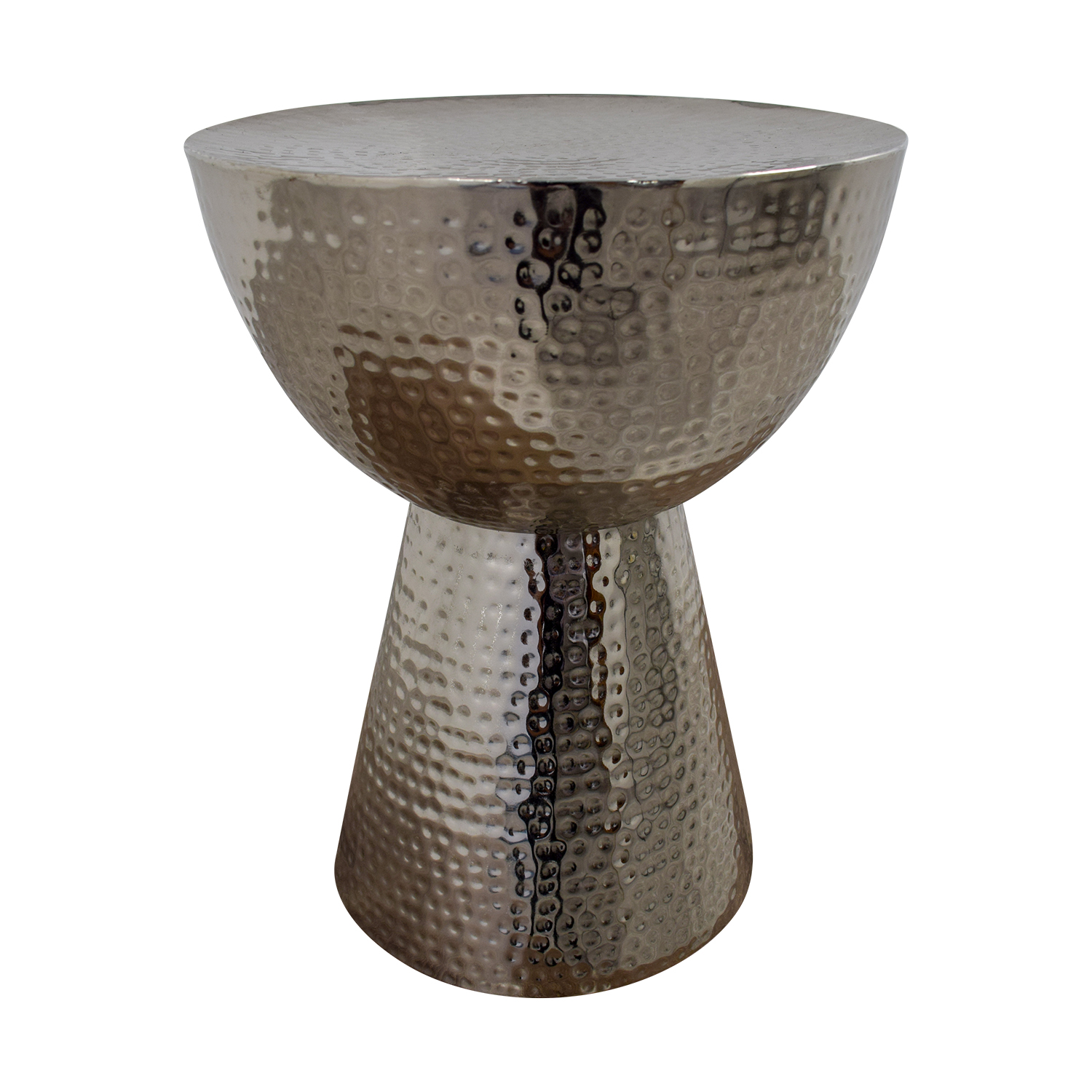 shop  Silver Embossed Egg Cup Side Table online