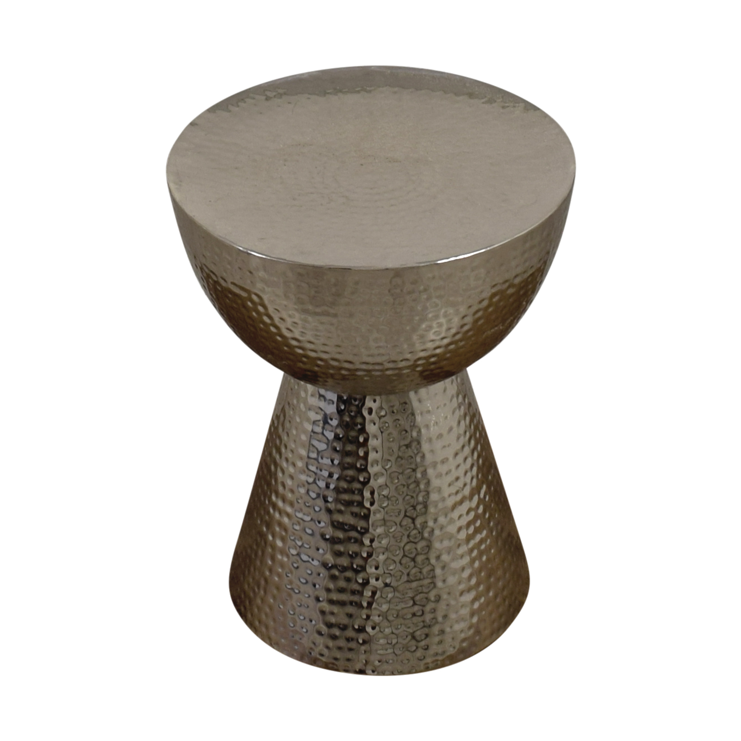 Silver Embossed Egg Cup Side Table nj