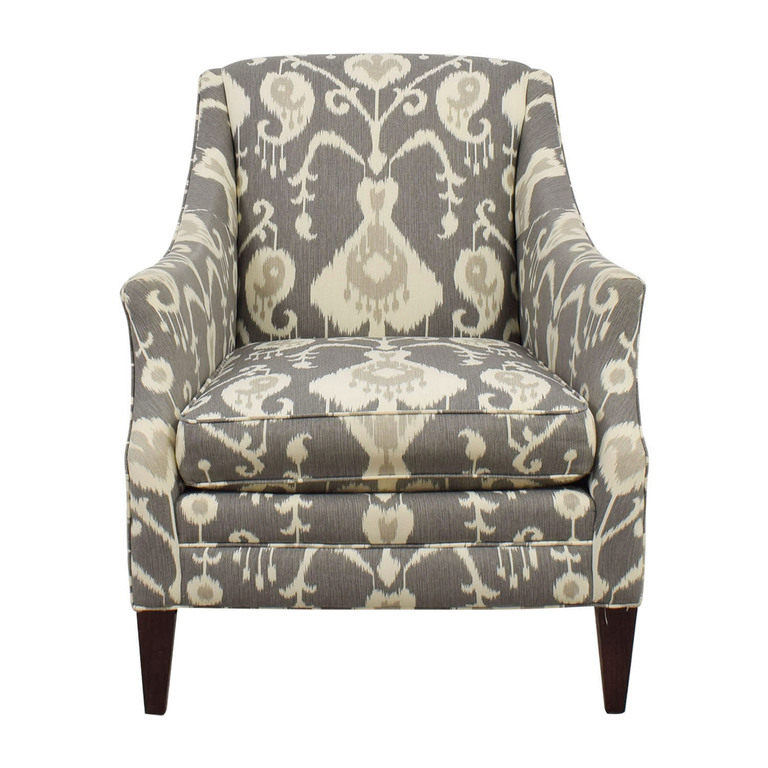 Boston Interiors Boston Interiors Gray and White Patterned Aviva Accent Chair used
