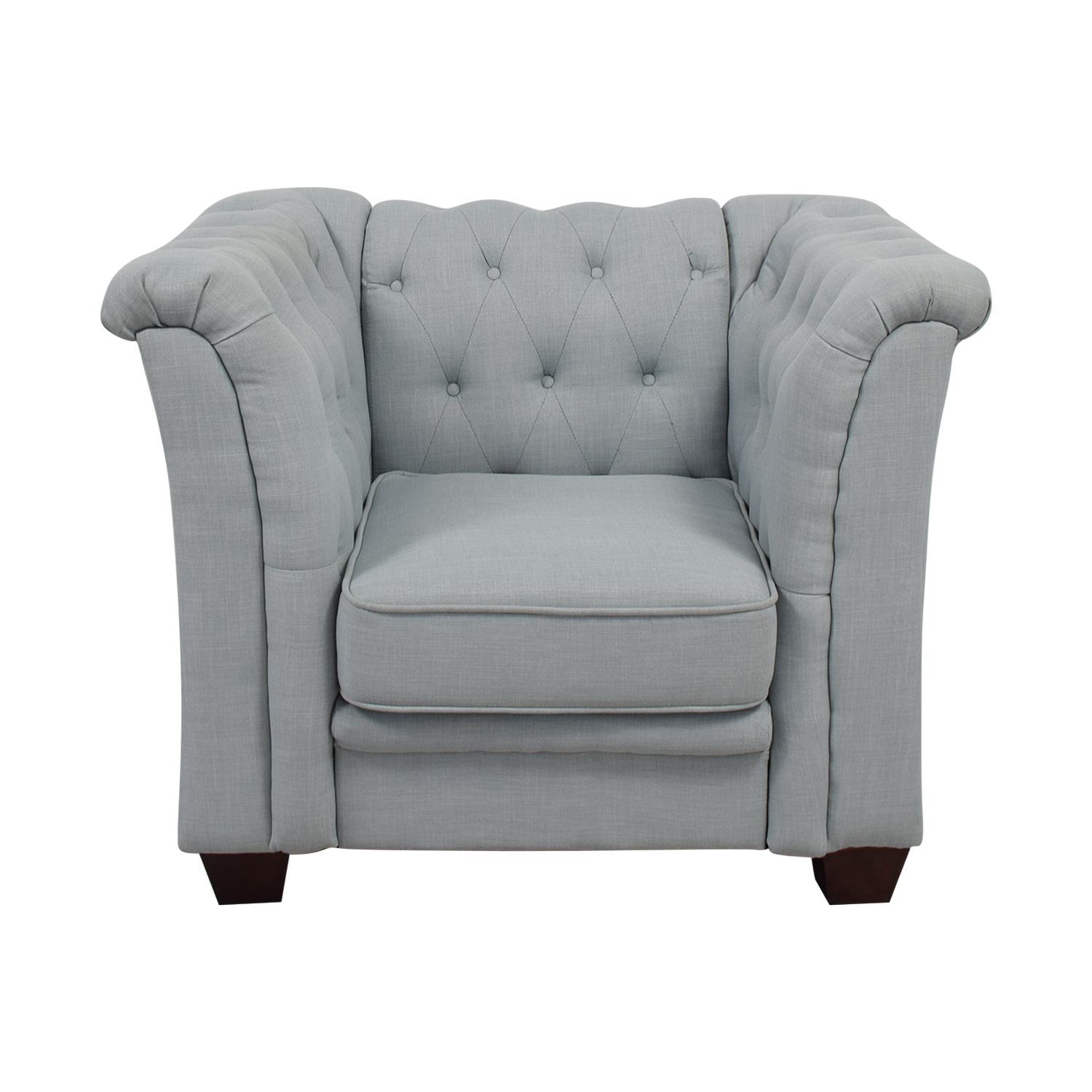 Delvi Furniture Delvi Furniture Sky Blue Tufted Accent Chair dimensions