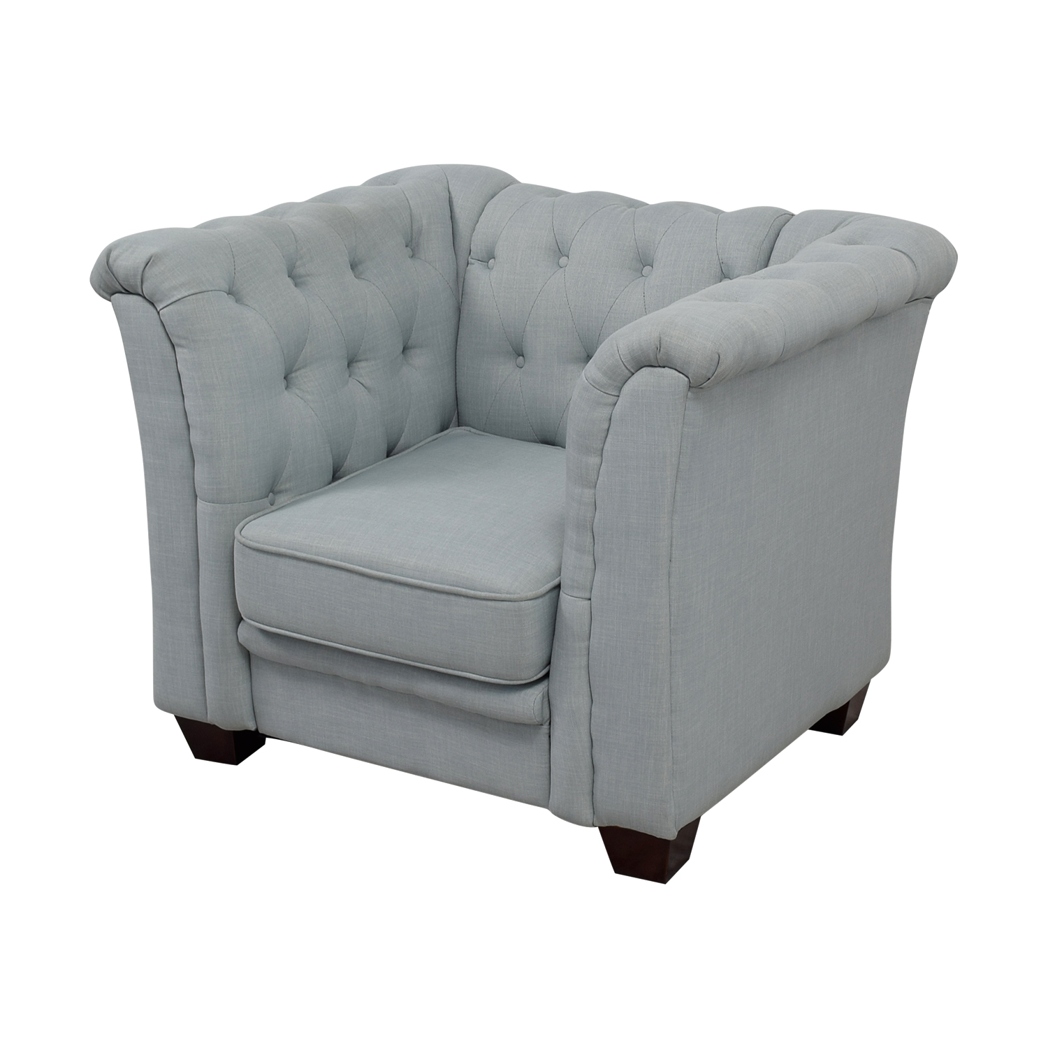 Delvi Furniture Delvi Furniture Sky Blue Tufted Accent Chair discount