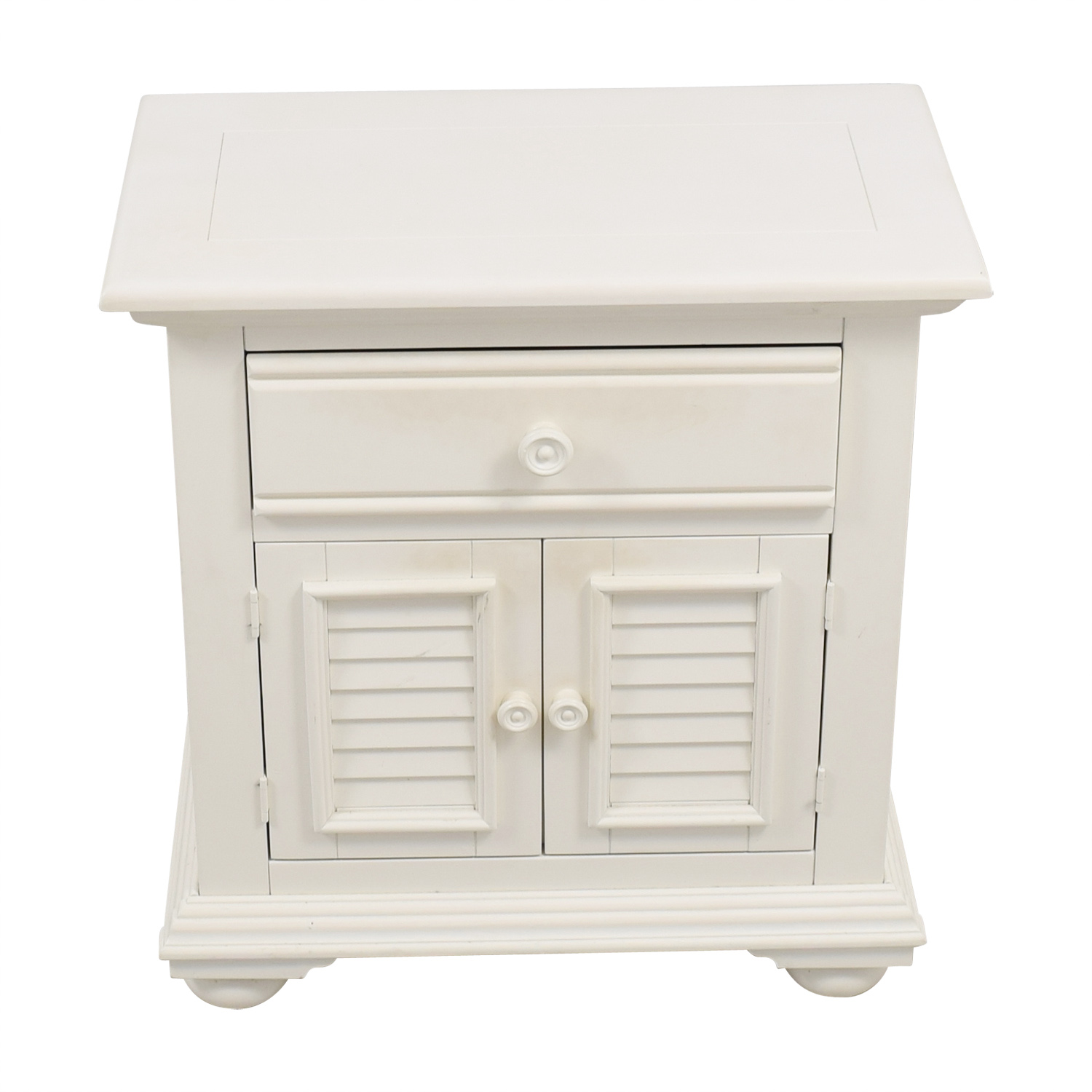 shop American Woodcrafters Single Drawer Cream End Table American Woodcrafters