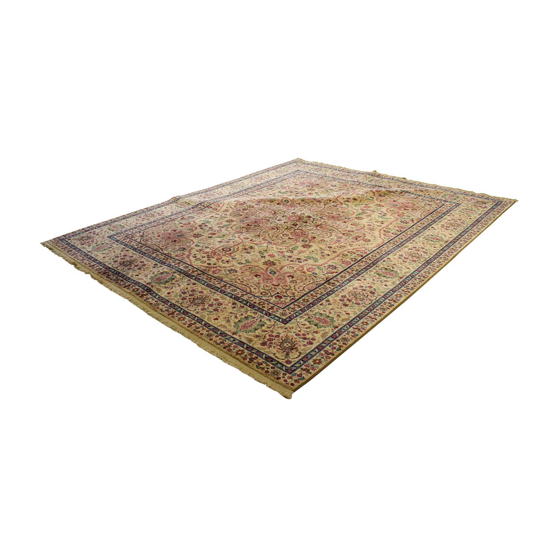 buy Karastan Karastan Tan Floral Wool Rug online