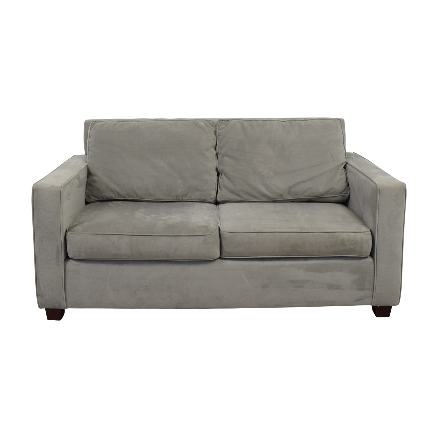 West Elm Henry Velvet Dove Grey Loveseat / Loveseats