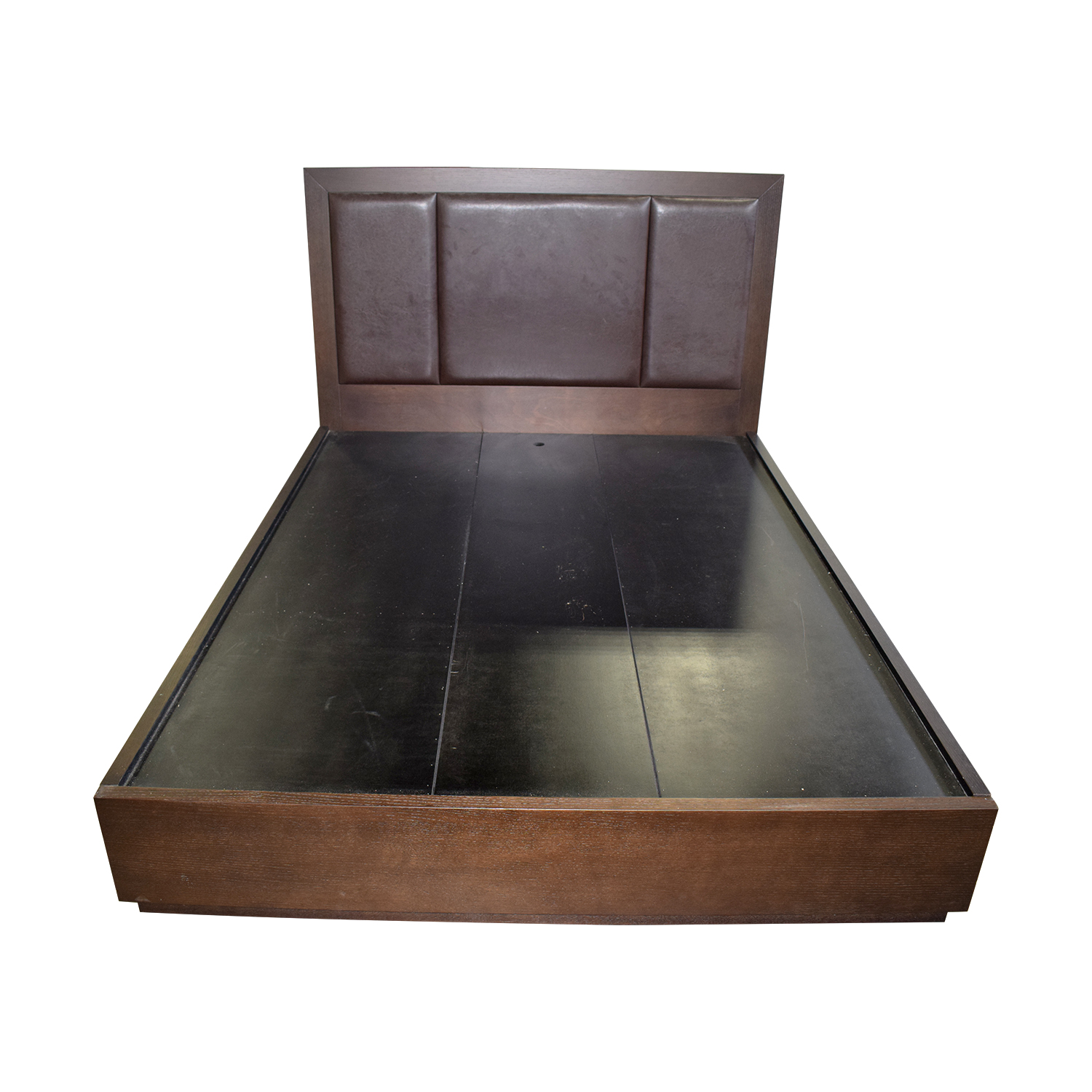 Wood Platform Queen  Bed Frame with Storage dimensions
