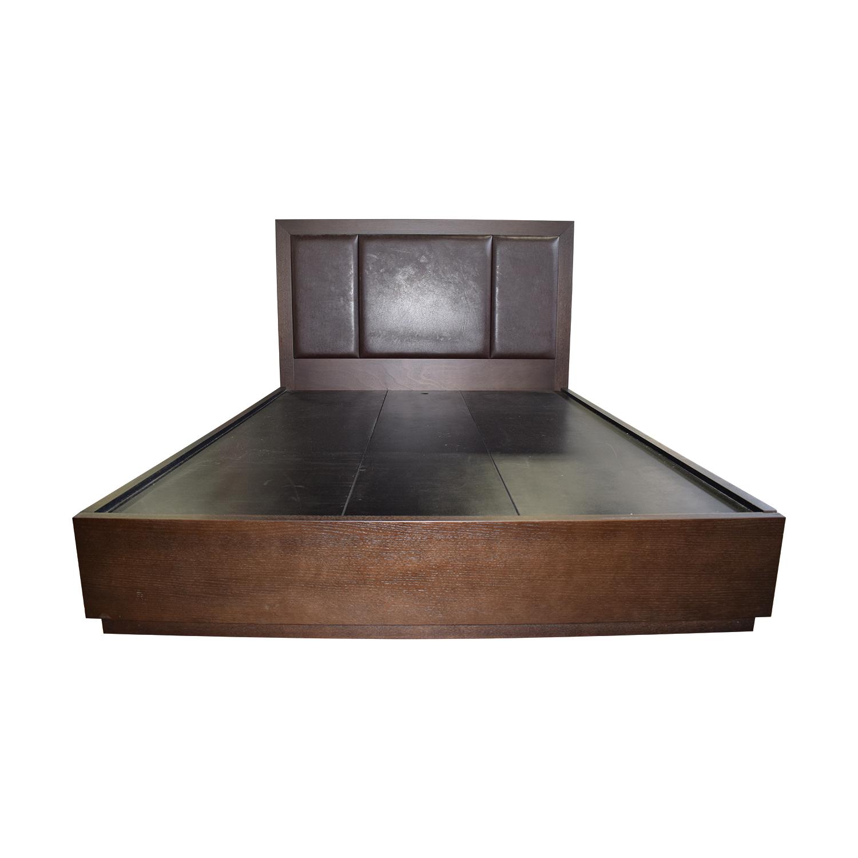 Queen Bed Frame With Storage.82 Off Wood Platform Queen Bed Frame With Storage Beds