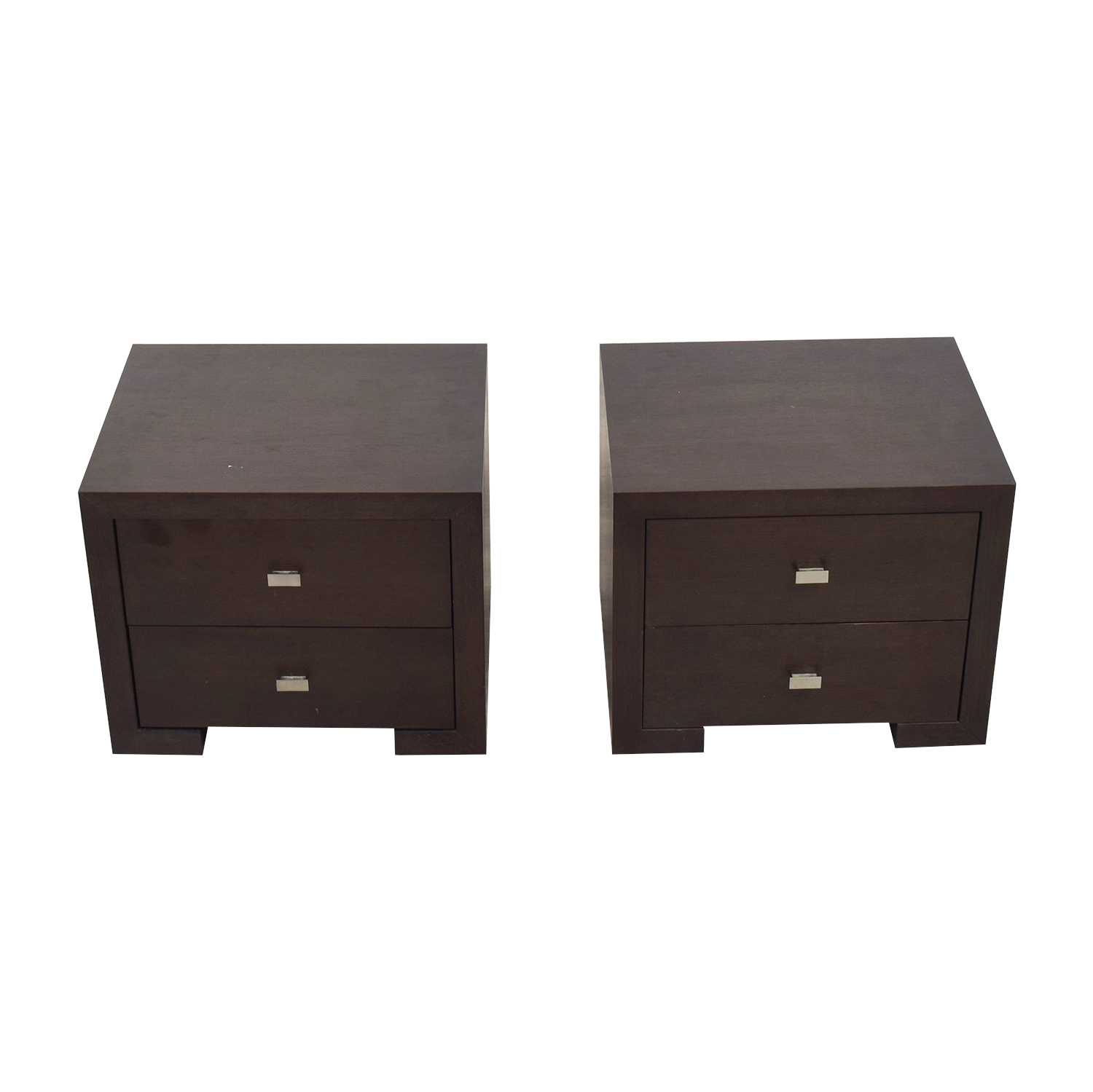 Two-Drawer Wood Nightstands price