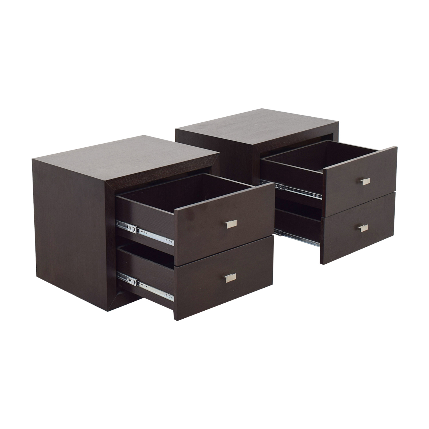 Two-Drawer Wood Nightstands for sale