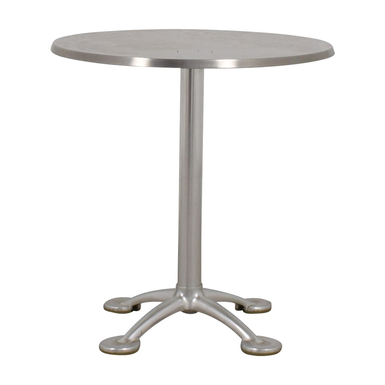 shop KFI Chrome Round Pedestal Table KFI