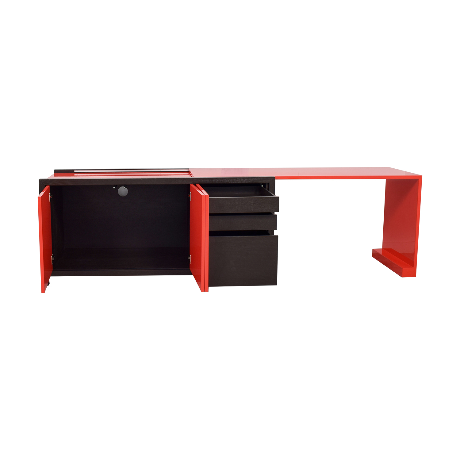 Dune Dune Modern Le Mans Black and Red Cabinet to Desk dimensions