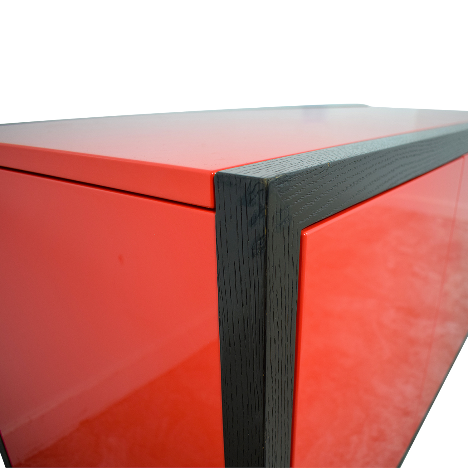 Dune Modern Le Mans Black and Red Cabinet to Desk / Tables