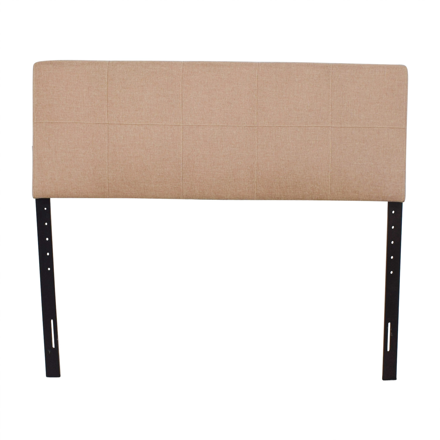 Queen Sized Upholstered Headboard Beige