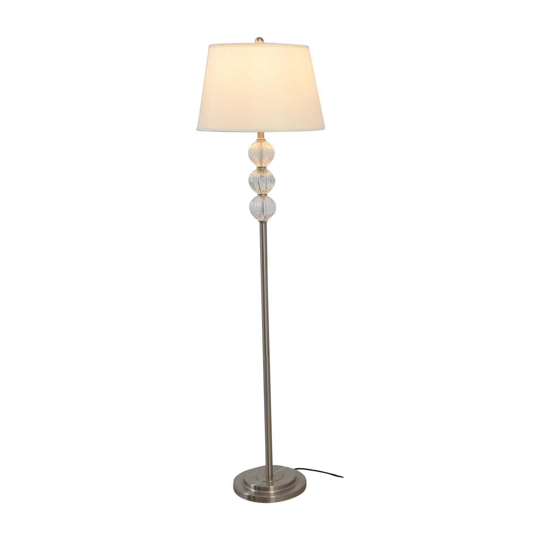 SH Lighting SH Lighting Ore Clear Glass Globes and Metal Floor Lamp used