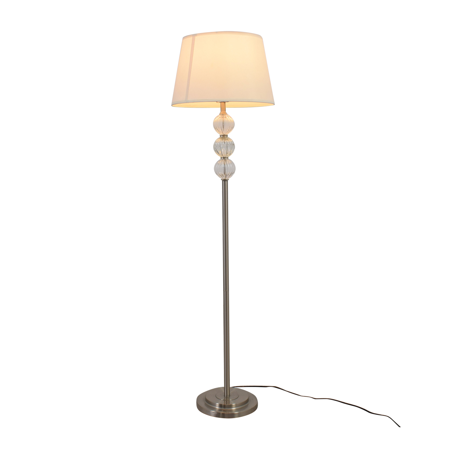 shop SH Lighting Ore Clear Glass Globes and Metal Floor Lamp SH Lighting