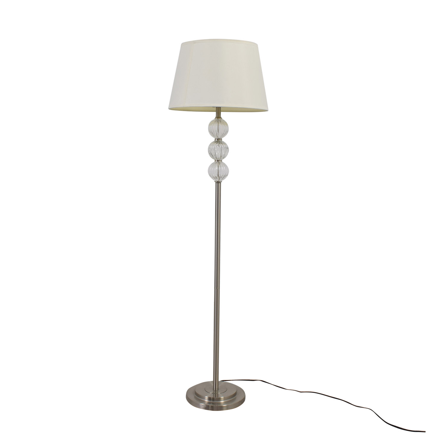 SH Lighting Ore Clear Glass Globes and Metal Floor Lamp sale