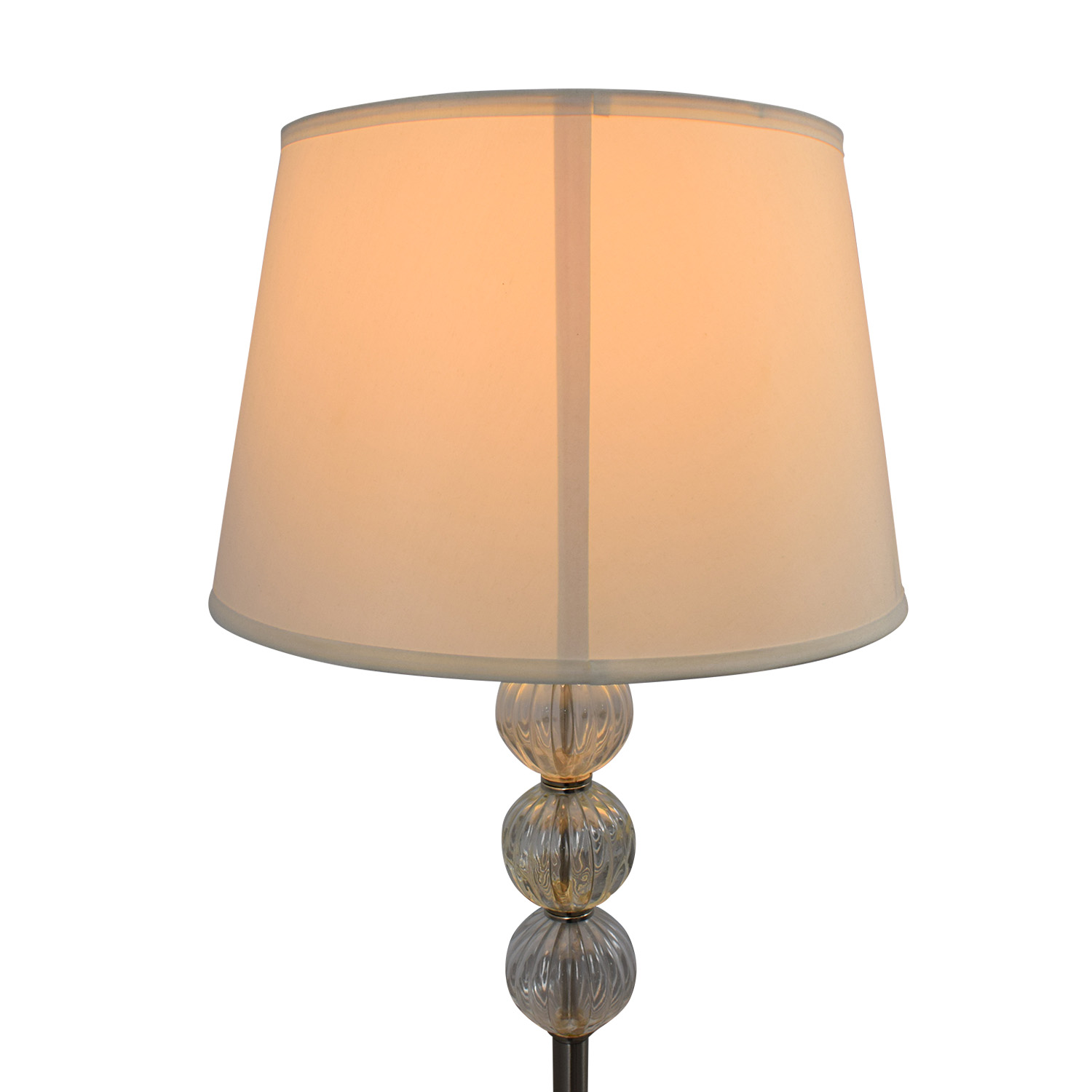 SH Lighting SH Lighting Ore Clear Glass Globes and Metal Floor Lamp second hand