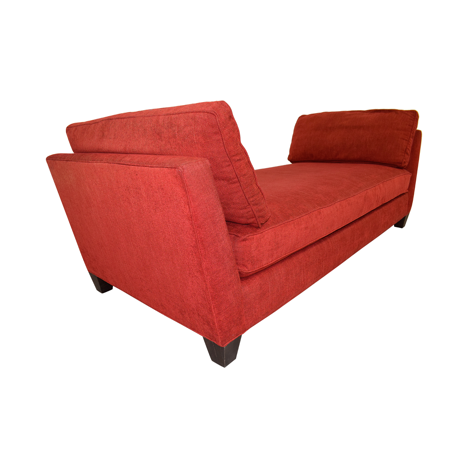 89% OFF - Crate & Barrel Crate & Barrel Marlowe Red Chaise / Sofas