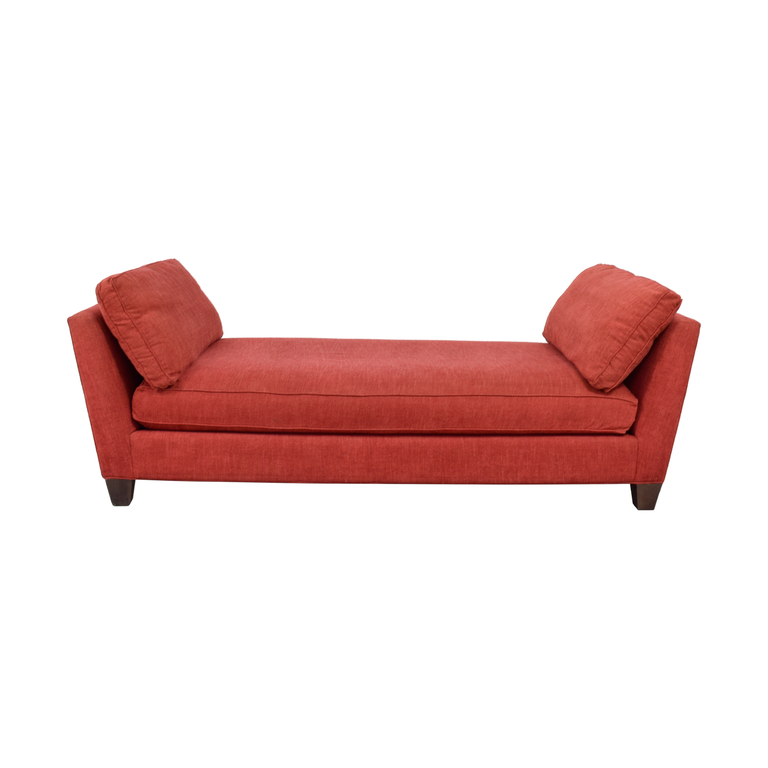 Crate & Barrel Marlowe Red Chaise / Chaises