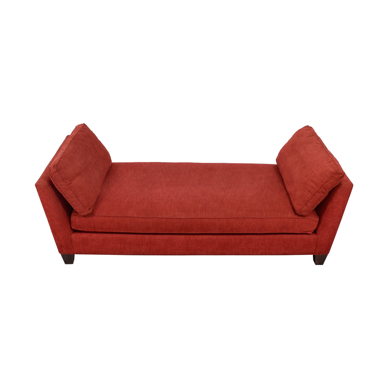 Crate & Barrel Crate & Barrel Marlowe Red Chaise second hand