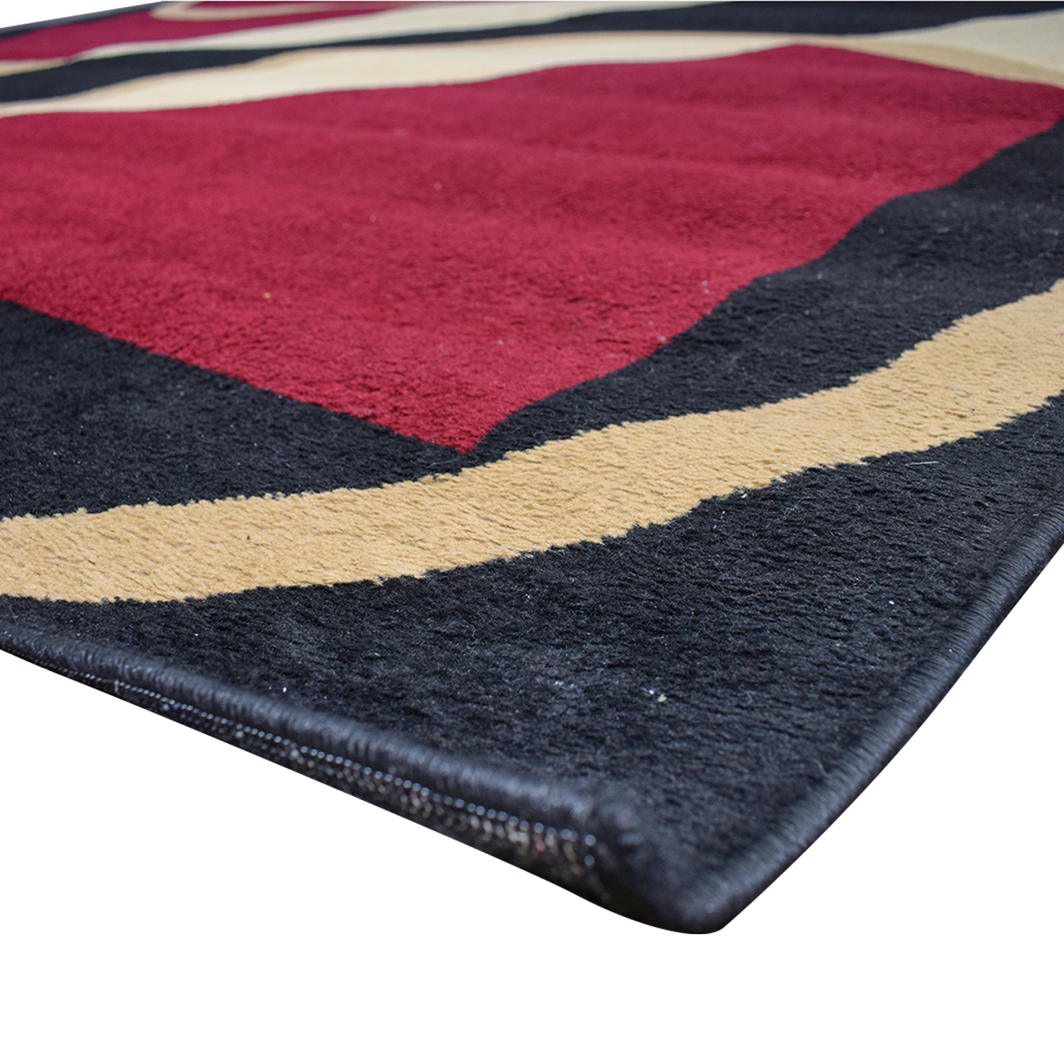 shop  Red Beige and Black Circles Pattern Carpet online