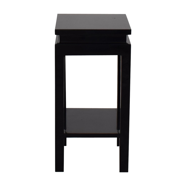 buy Black Two-Shelf Side Table