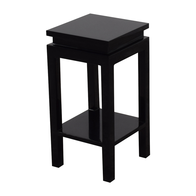 Black Two-Shelf Side Table sale