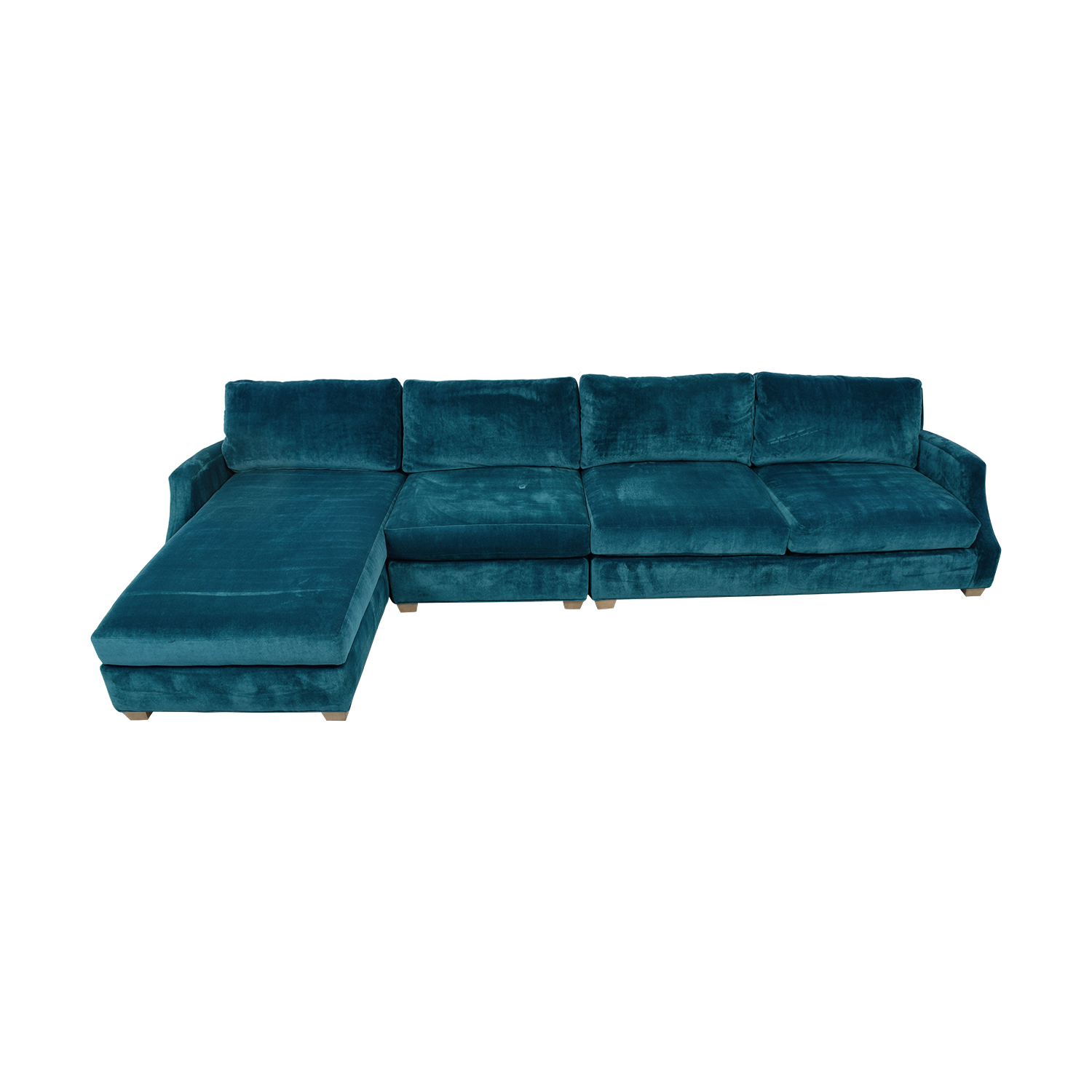Ethan Allen Ethan Allen Emerald Right Chaise Sectional dimensions