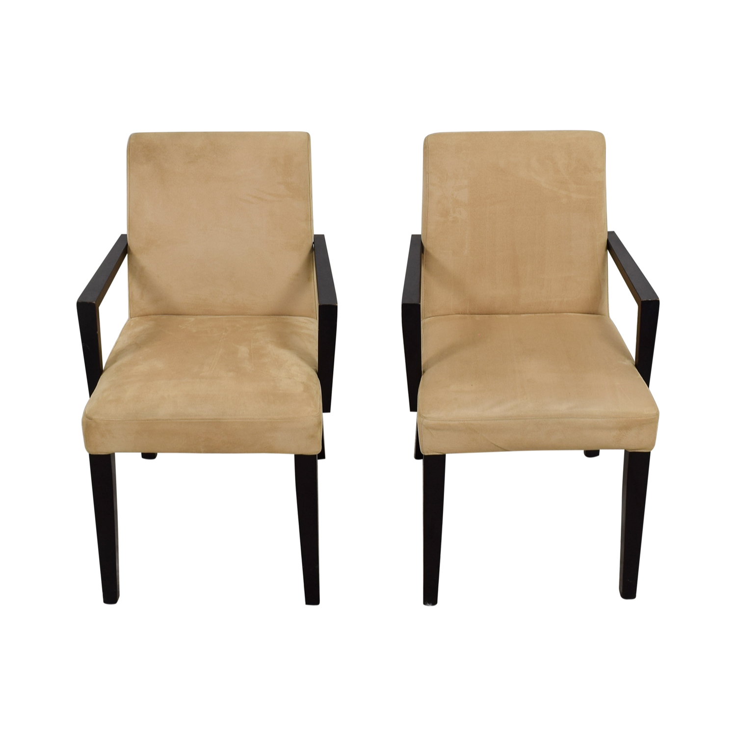 BoConcept BoConcept Genova Tan Suede Chairs on sale