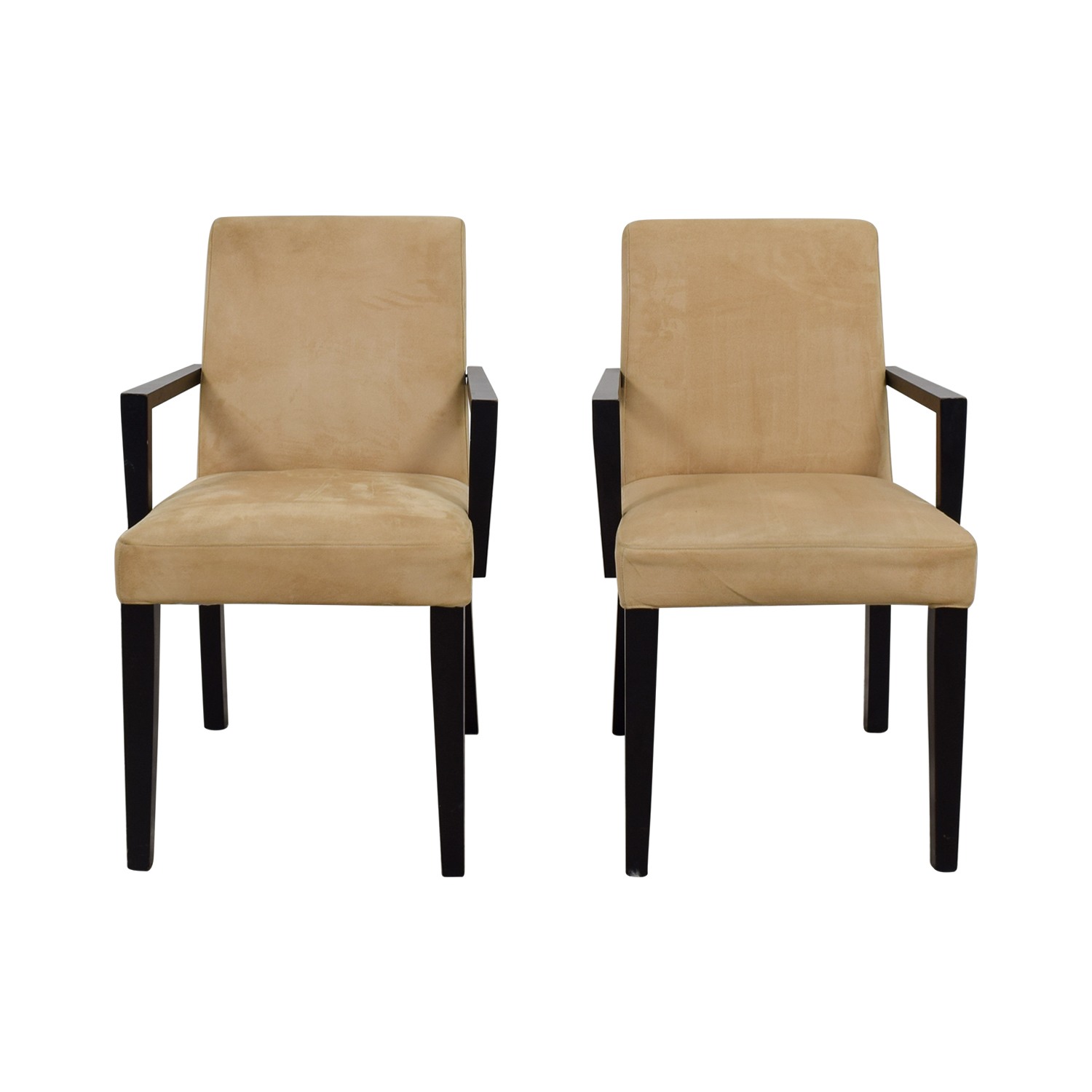 shop BoConcept Genova Tan Suede Chairs BoConcept Accent Chairs