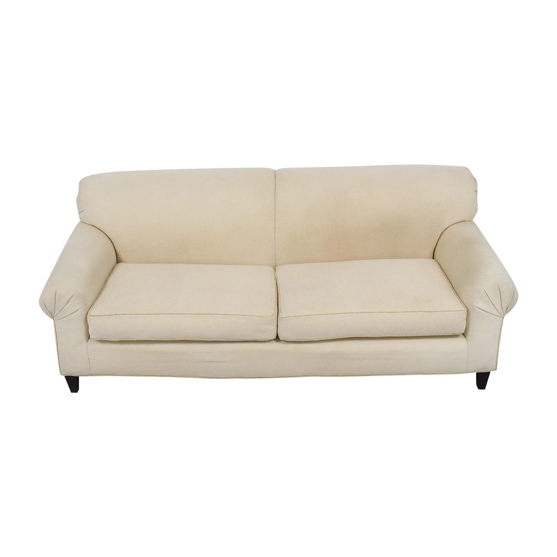 White Two-Cushion Sofa nyc